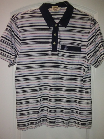 5d0b5d5a Original Penguin Shirts | On Sale Striped Polo Shirt | Poshmark